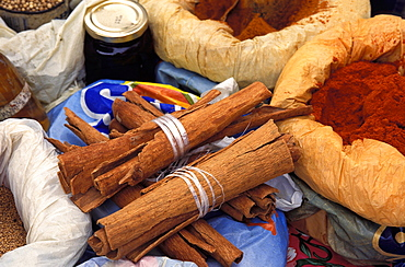 Spices at the market, Guadeloupe, Caribbean, America