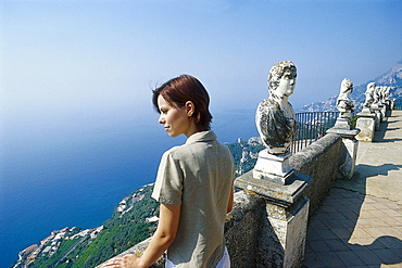 View from Villa Cimbrone, Ravello, Amalfitana Campania, Italy, Italy, Europe