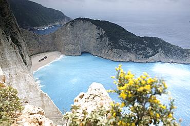 Shipwreck in a bay, Zakynthos Island, Ionian Islands, Greece