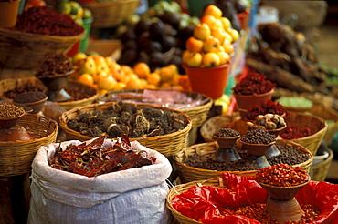Chillis auf dem Mercado Municipal, San Christobal, Chiapas, Mexico, America