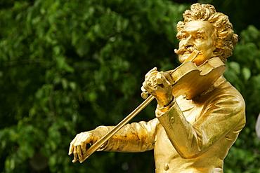 Johann Strauss memorial in Vienna Austria
