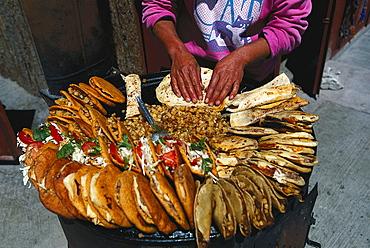 Preparation of Tacos, Creel, Mexico, America