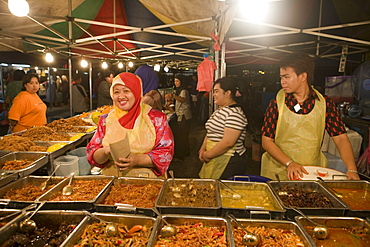 Night Market Fast Food, Pasar Malam Night Market, Bandar Seri Begawan, Brunei Darussalam, Asia