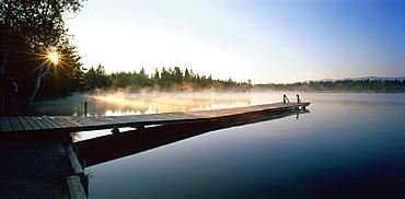 Lake Kirchsee, Kloster Reutberg, Landkreis Bad Toelz, Upper Bavaria, Germany