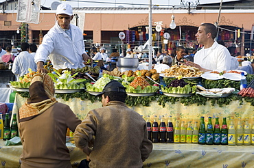 Open air kitchen, Place Jemaa el Fna, Marrakech, Morocco