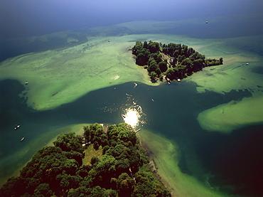 Aerial Photo of Roseninsel, Starnberger See, Upper Bavaria, Germany