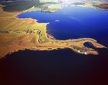 Aerial view of Staffelsee, Upper Bavaria, Germany