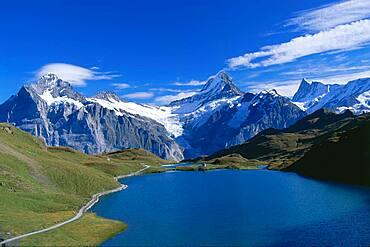 Mountain panorama of the Bernese Overland, Switzerland
