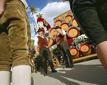 Entrainment of the hosts, Oktoberfest, Munich, Bavaria
