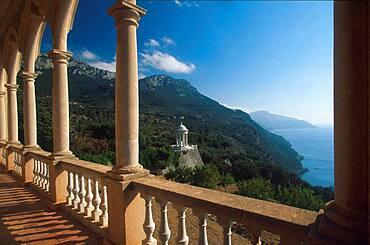 View from the balcony, Son Marroig, Dei?, Majorca, Spain