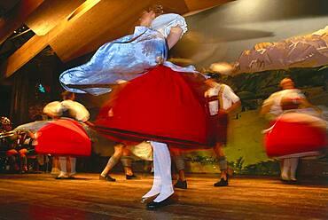 Traditional Bavarian folk dance, Bavaria, Germany