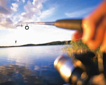 Angling on a lake