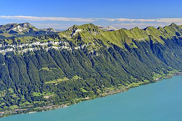Augstmatthorn with Lake Brienz, from Schynigen Platte, Grindelwald, Bernese Oberland, UNESCO World Natural Heritage Swiss Alps Jungfrau-Aletsch, Bernese Alps, Bern, Switzerland