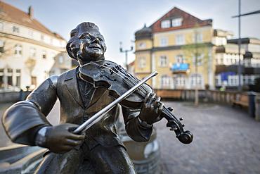 Musikantenbrunnen in the old town of Donaueschingen, Schwarzwald-Baar-Kreis, Baden-Württemberg, Germany