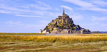 At Mont St. Michel, Brittany, Normandy, France, Europe