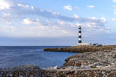 The lighthouse from Cap d'Artrutx, Ciutadella. Menorca, Balearic Islands, Spain, Europe