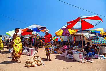 Colorful market in Bekopaka, West Madagascar, Madagascar, Africa
