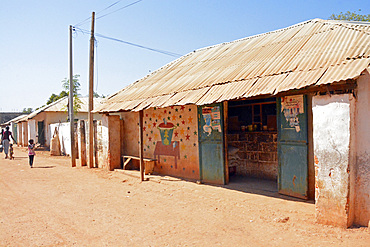Gambia; Central River Region; Shop in Janjanbureh; formerly Georgetown