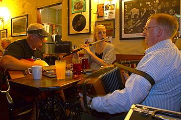 indoor photo, Irish Folk musicians in O'Connor's in Doolin, County Clare, Ireland, Europe