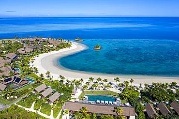 Aerial view from Six Senses Fiji Resort, Malolo Island, Mamanuca Group, Fiji Islands, South Pacific