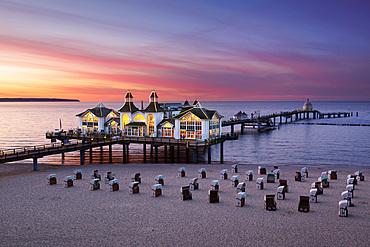 Pier, Sellin, Ruegen, Baltic Sea, Mecklenburg-Western Pomerania, Germany