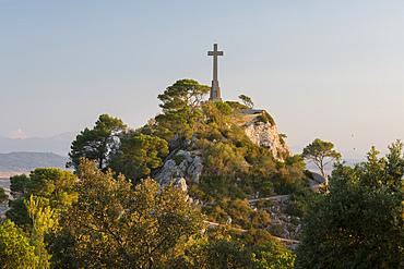 Viewpoint at Sant Salvador Monastery, Felanitx, Mallorca, Balearic Islands, Spain