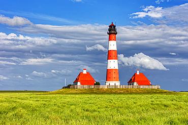 Westerheversand lighthouse, Nordstrand, Schleswig-Holstein, Germany