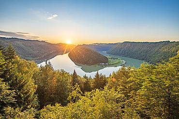 Schlögener Schlinge on the Danube in Upper Austria, Austria