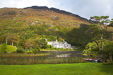 outdoor photo, Kylemore Abbey at Kylemore Lough, Connemara, County Galway, Ireland, Europe