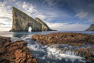 Drangarnier rock formations on Vagar, Faroe Islands