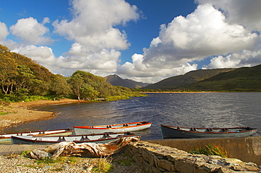 outdoor photo, at Kylemore Lough near Kylemore Abbey, Connemara, County Galway, Ireland, Europe