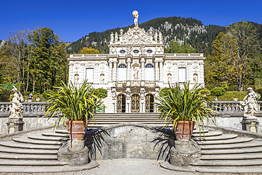 Linderhof Castle, Ettal, Allgäu, Bavaria, Germany