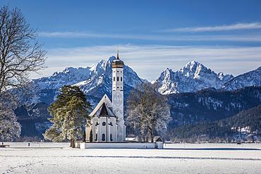 Pilgrimage Church of St. Coloman, Schwangau, Allgäu, Bavaria, Germany