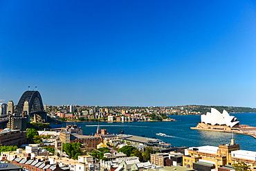 View of Harbor Bridge, Opera House and Harbor, Sydney, New South Wales, Australia