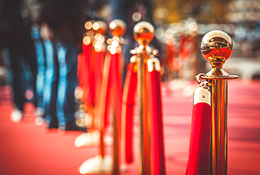 Red carpet at an awards ceremony in Moscow, Russia