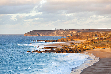 Coast at Cap Frehe in sunset. L Brittany, France