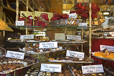 Vienna Austria Confiserie shop window with sweets