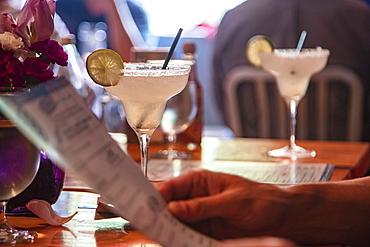 Detail of Margarita Cocktails at Dianne's Fish Shack