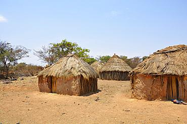Angola; Huila Province; around Chibia; small village of the Muhila ethnic group