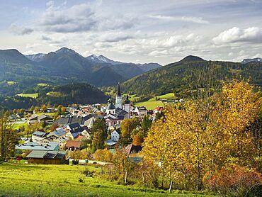 View over Mariazell, Styria, Austria