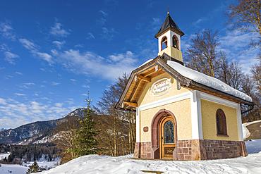 Chapel of the Beatitudes at Mitterweinfeld above Berchtesgaden, Upper Bavaria, Bavaria, Germany