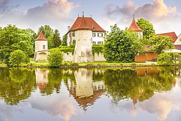 Blutenburg Castle in Munich, Upper Bavaria, Bavaria, Germany