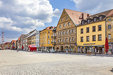 Maximilianstrasse in Bayreuth, Bavaria, Germany