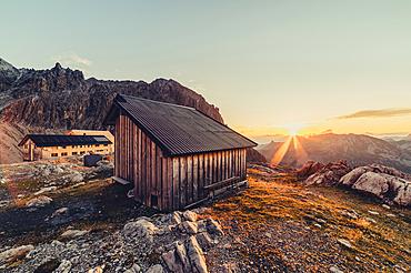 Sunrise at the Totalphütte, Rätikon, Vorarlberg, Austria, Europe