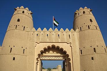 Entrance gate to Al Jahili Fort, Al Ain, Abu Dhabi, United Arab Emirates, Middle East