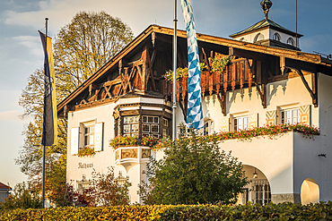 Town hall of Schliersee, Upper Bavaria, Bavaria, Germany