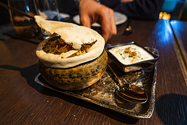 Delicious Indian fusion cuisine at Tamba Restaurant, Abu Dhabi, Abu Dhabi, United Arab Emirates, Middle East
