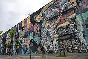 Huge mural across from the cruise terminal, Rio de Janeiro, Rio de Janeiro, Brazil, South America
