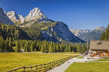 Ehrwalder Alm in the Gaistal above Ehrwald in Tirol, Tyrol, Austria