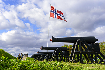 Cannons at Kristiansten Fortress, Trondheim, Norway